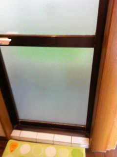 4ミリかすみガラス 施工後