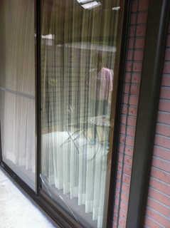 5ミリ透明ガラス施工前