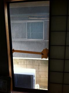 5�_透明ガラス施工前