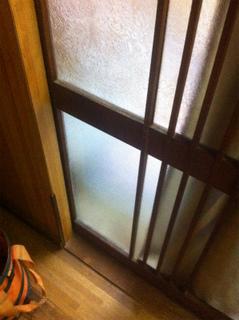 かすみガラス(2�_梨字タイプ)施工後